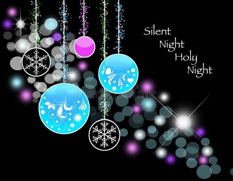 Silent Night Illustration stock illustration