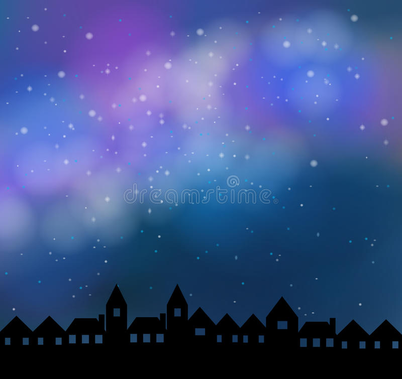 Free Silent Night With Beautiful Stardust Sky Royalty Free Stock Image - 46899976