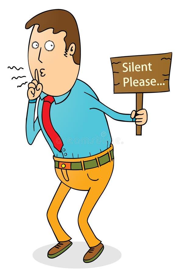 Silent please vector illustration
