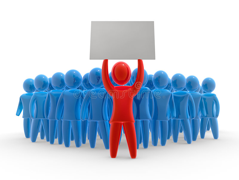 Download Silent protest stock illustration. Image of crowd, board - 7707994