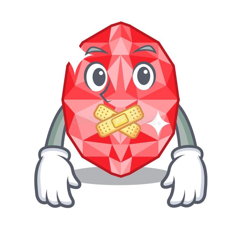 Silent ruby gems in the mascot shape. Vector illustration vector illustration