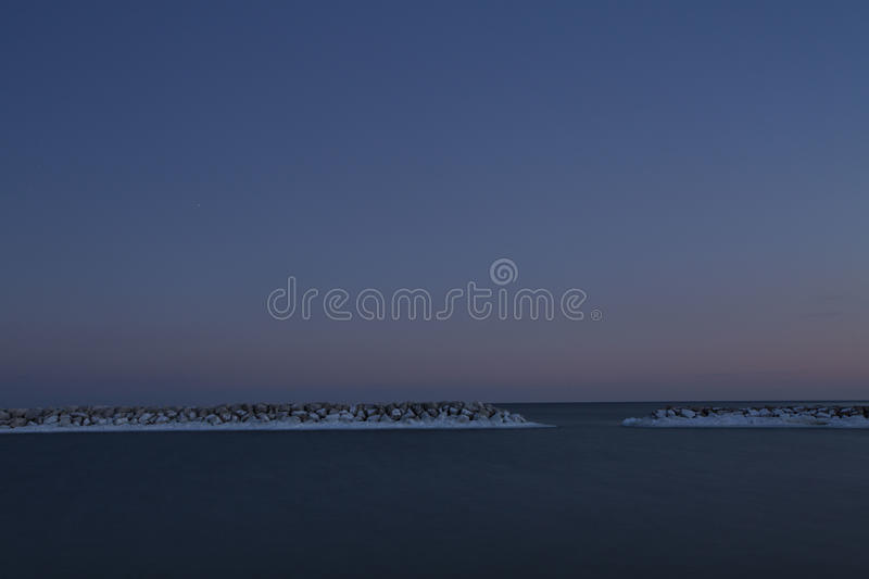 Silent sea royalty free stock images
