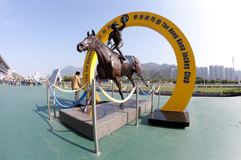 Silent Witness bronze. Is a attraction in Sha Tin racecourse. The bronze is displayed on the public forecourt of Sha Tin Racecourse. Related link stock photos