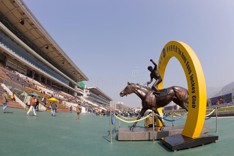 Silent Witness bronze. Is a attraction in Sha Tin racecourse. The bronze is displayed on the public forecourt of Sha Tin Racecourse. Related link stock photo