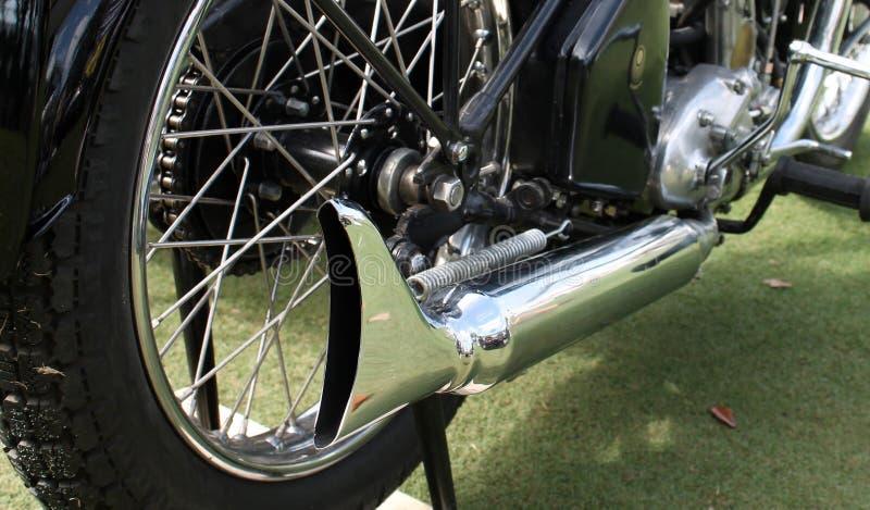 Silenziatore britannico classico del motociclo immagini stock libere da diritti