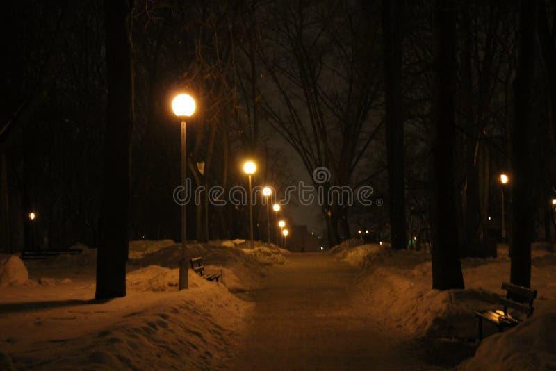 Silenzio di inverno nella primavera fotografia stock