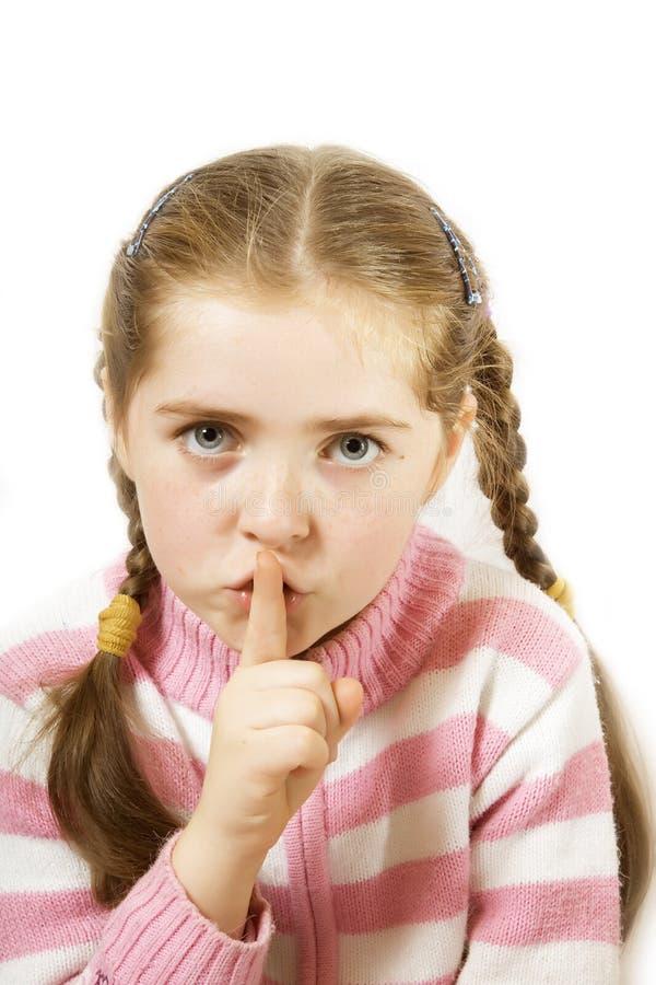 Silenzio, per favore immagini stock libere da diritti