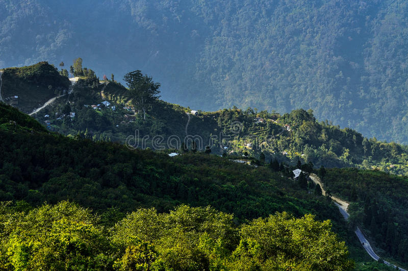 Download Silerygaon valley, Sikkim stock image. Image of land - 34335029