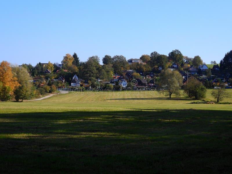 Silesian χωριό το φθινόπωρο στοκ φωτογραφία με δικαίωμα ελεύθερης χρήσης