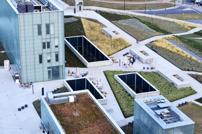 Silesian Museum. The new Silesian Museum in Katowice (Poland), view from the top. August 2015 stock photo