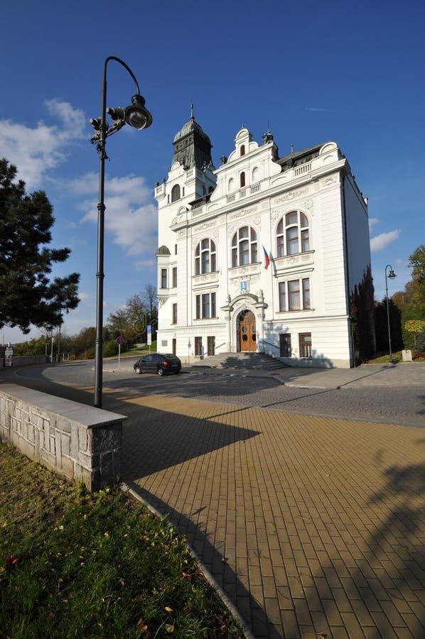 Silesian Ostrava. City town hall of Silesian Ostrava stock image