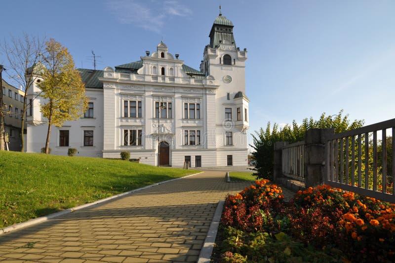 Silesian Ostrava. City town hall of Silesian Ostrava stock photo