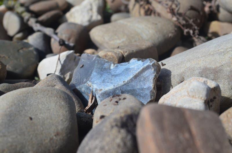 Silex de pierre bleue au centre photographie stock libre de droits