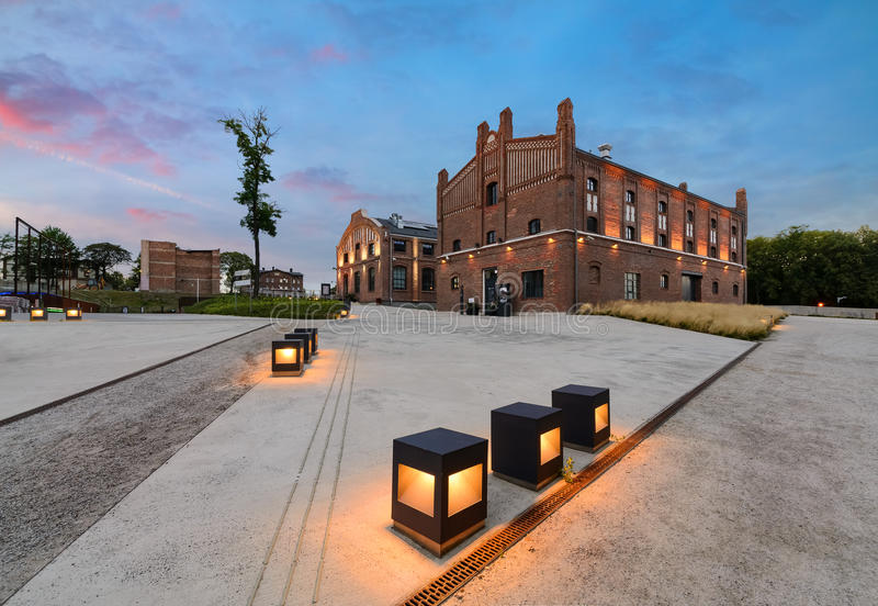 Silezisch Museum complex in Katowice stock afbeeldingen
