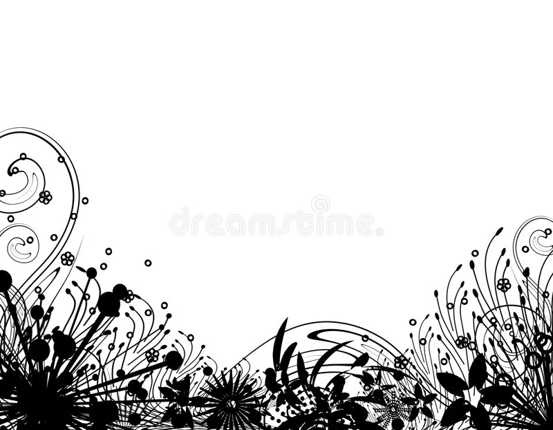 Silhouet 2 van Wintergarden stock illustratie