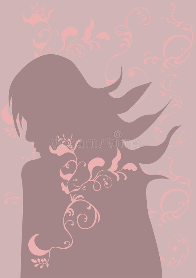 Silhouet stock illustratie