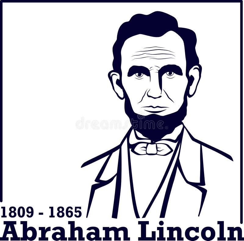 Silhouet Abraham Lincoln vector illustratie