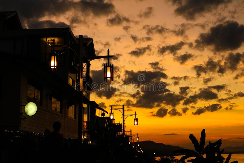 Silhouet in ChiangKan royalty-vrije stock foto's