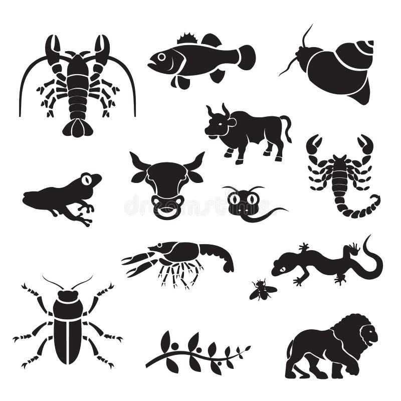 Silhouet - dieren vector illustratie