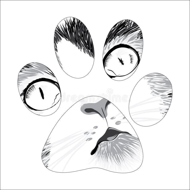 Silhouet dierlijke sleep stock afbeeldingen