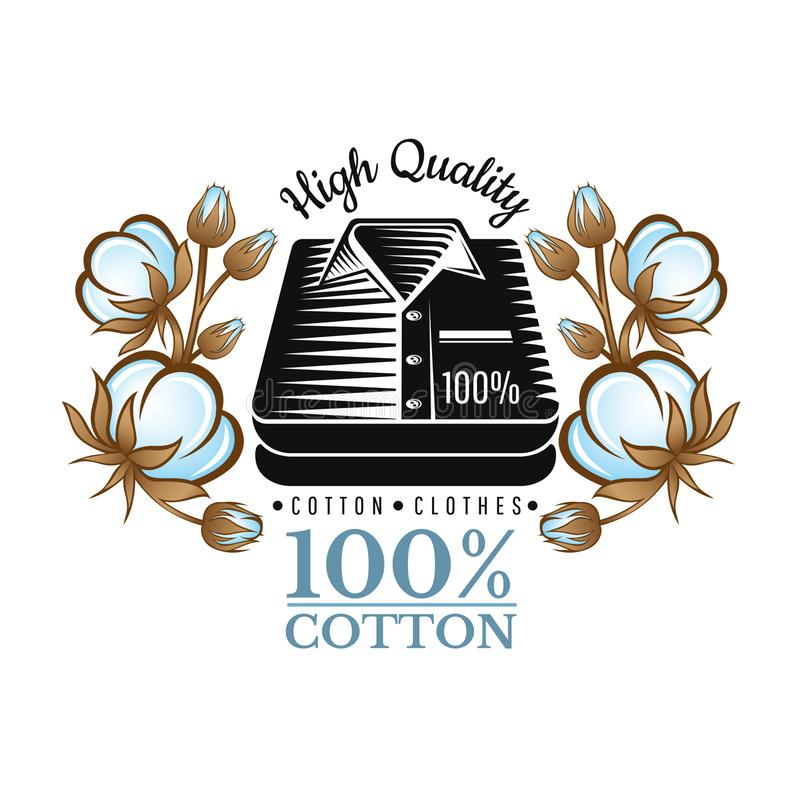 Silhouet gestapelde overhemden tussen van kleuren katoenen installatiespatroon Embleem voor textiel, stof, doek of zaken royalty-vrije illustratie