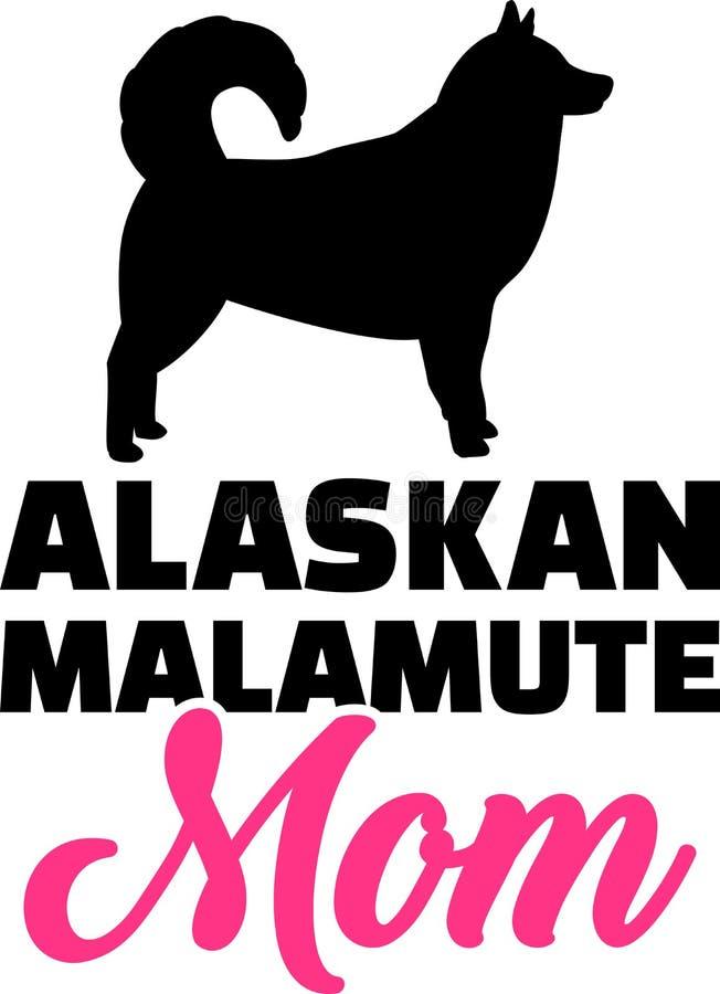 Download Silhouet Het Van Alaska Van Het Malamutemamma Vector Illustratie - Illustratie bestaande uit vector, symbool: 114226648