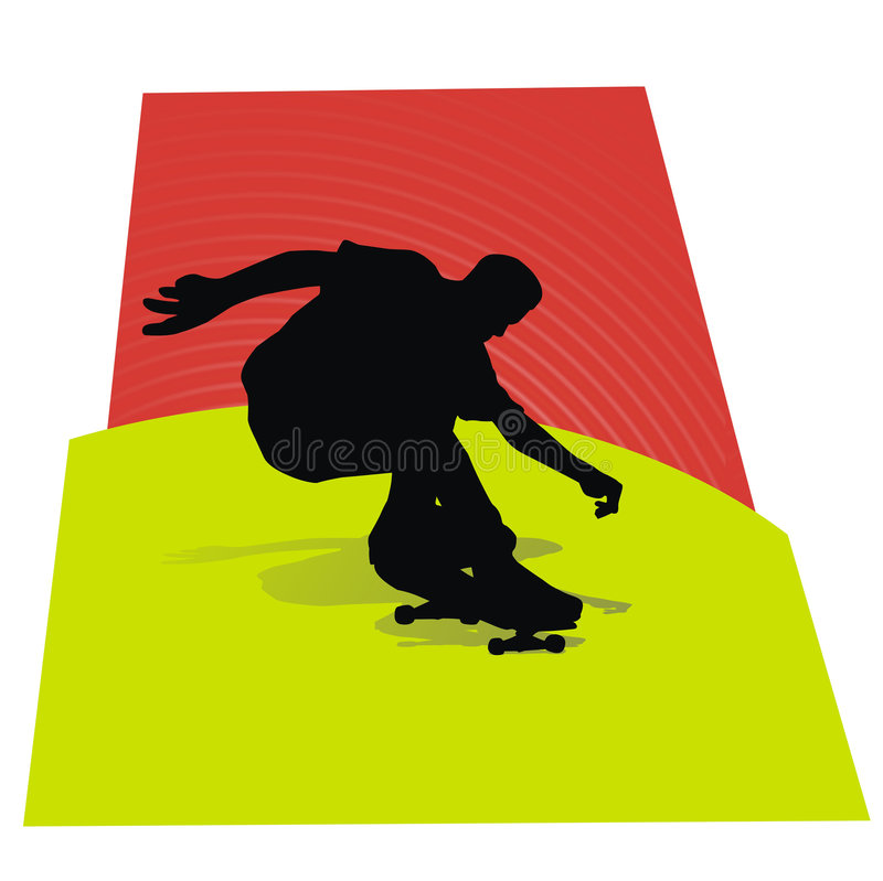 Silhouet II van de schaatser stock illustratie