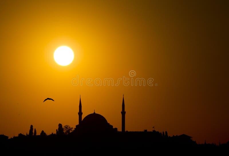 Silhouet, Istanboel stock afbeeldingen
