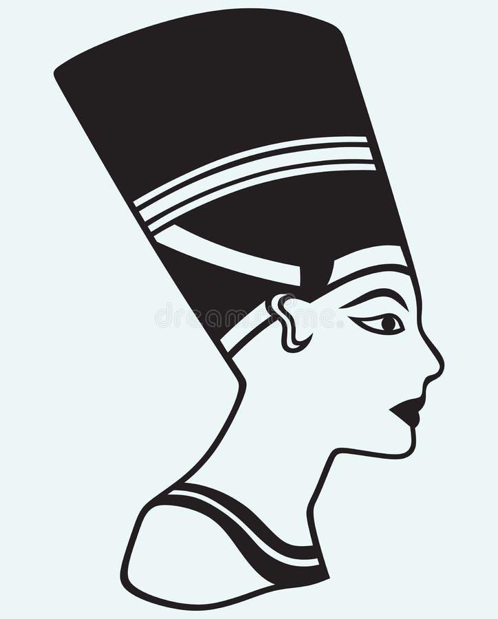 Silhouet Nefertiti stock illustratie
