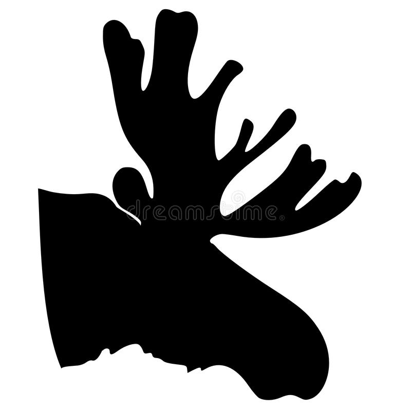 Silhouet van Amerikaanse elanden stock illustratie