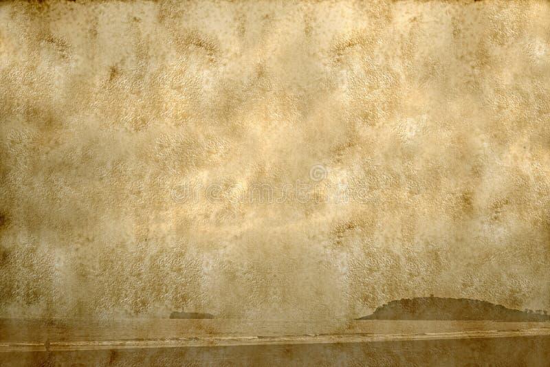 Silhouet van baai en strand van Santander Spanje stock afbeelding