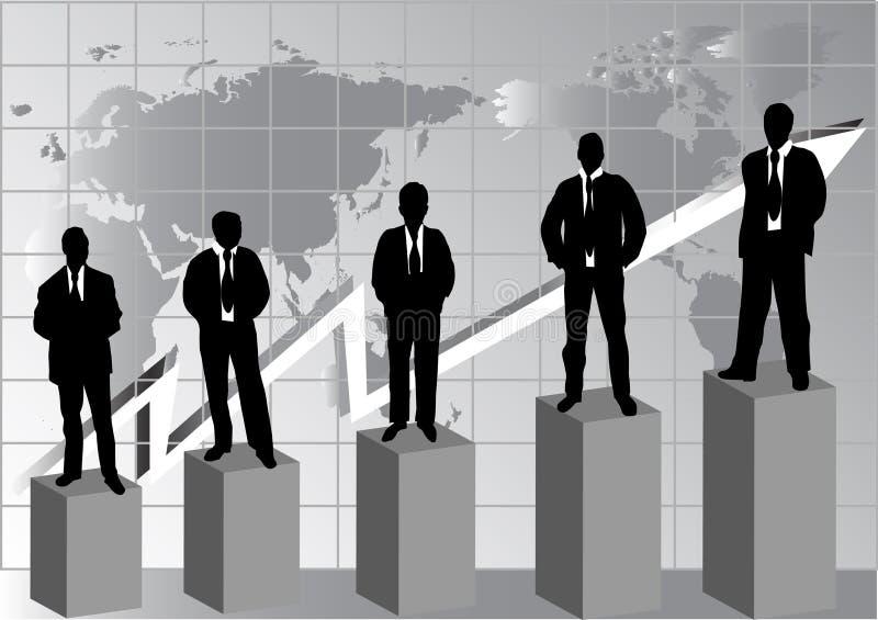 Silhouet van bedrijfsmensen royalty-vrije illustratie