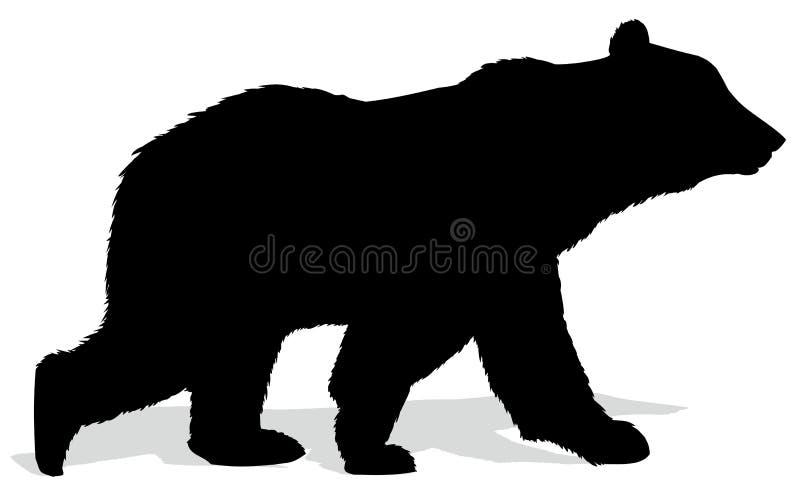 Silhouet van beer stock illustratie