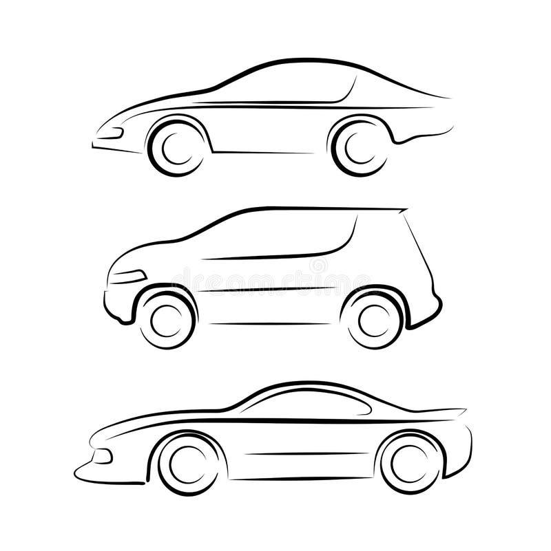 Silhouet van de auto royalty-vrije illustratie