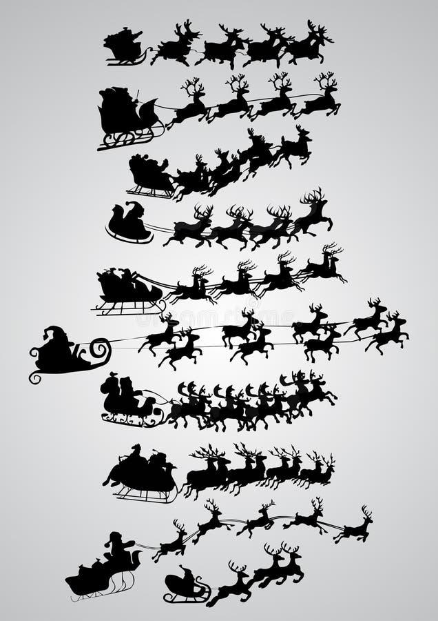 Silhouet van de Kerstman royalty-vrije illustratie