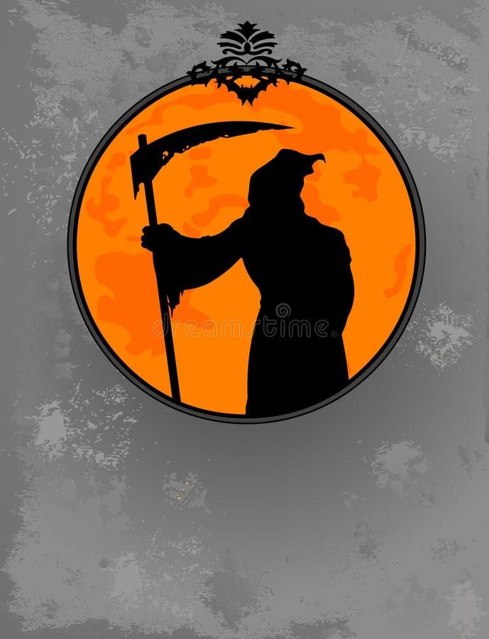 Silhouet van de Maaimachine van Halloween het Onverbiddelijke vector illustratie