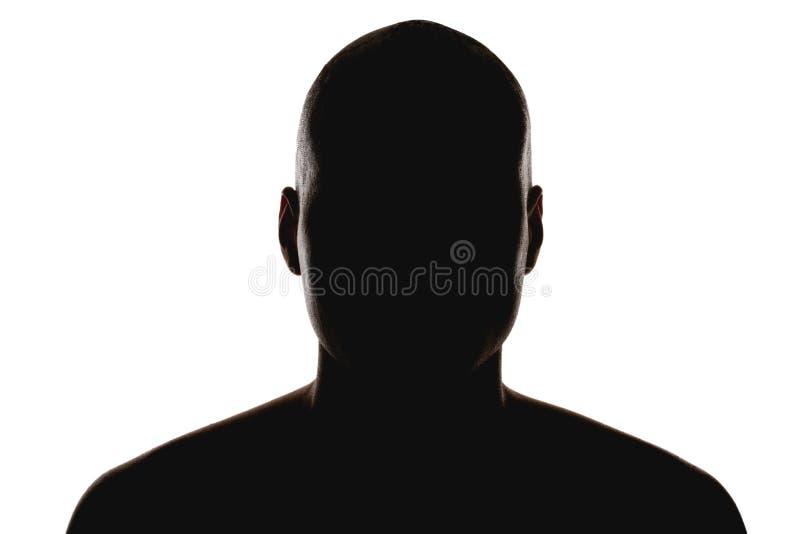Silhouet van de man stock fotografie