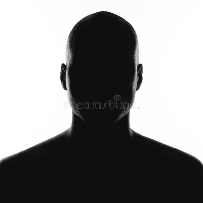 Silhouet van de man royalty-vrije stock afbeelding