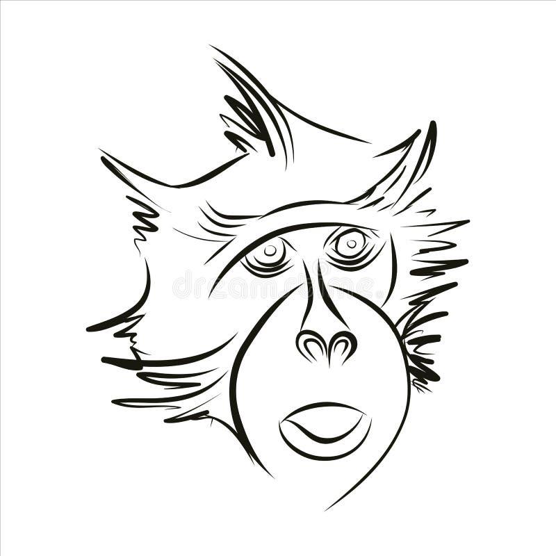 Silhouet van een aap stock foto's
