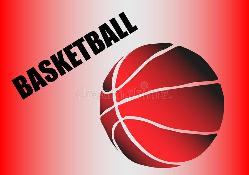 Silhouet van een basketbalbal Punten, lijnen, driehoeken, tekst, kleurengevolgen en achtergrond op afzonderlijke lagen vector illustratie