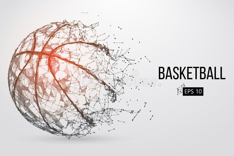 Silhouet van een basketbalbal Vector illustratie royalty-vrije illustratie