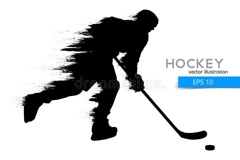 Silhouet van een hockeyspeler Vector illustratie royalty-vrije illustratie