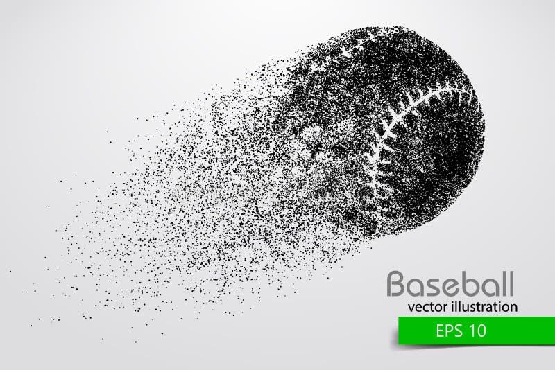 Silhouet van een honkbalbal Vector illustratie stock illustratie
