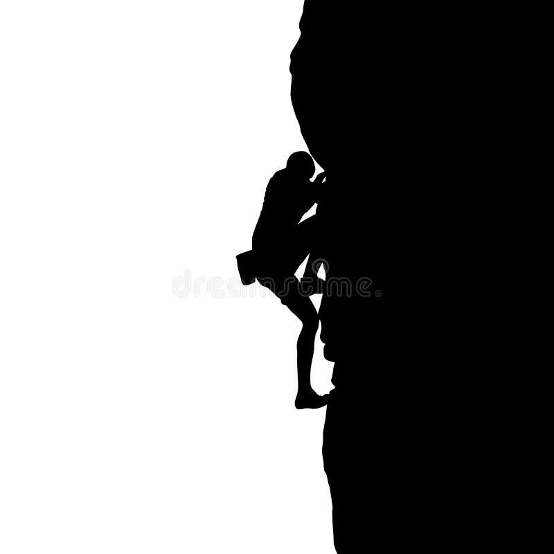 Silhouet van een klimmer royalty-vrije illustratie