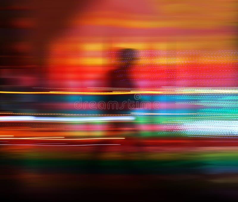 Silhouet van een lopende mens royalty-vrije stock foto