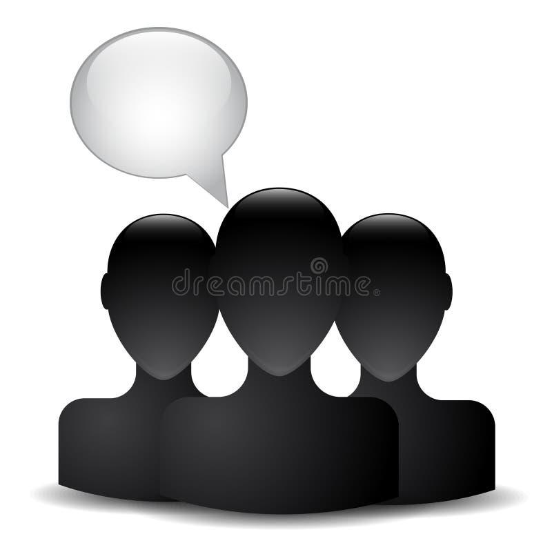 Silhouet van een mensenhoofd royalty-vrije illustratie