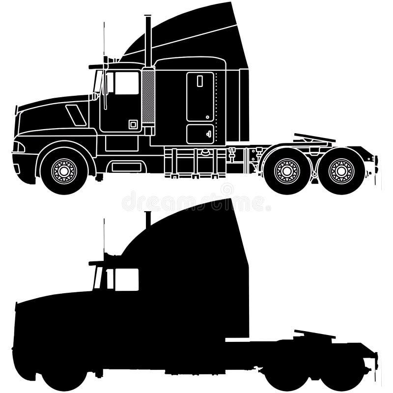 Silhouet van een vrachtwagen vector illustratie