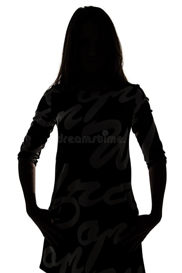 Silhouet van een Vrouw stock foto