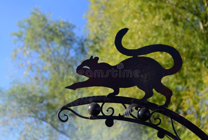Silhouet van een windwijzer royalty-vrije stock foto's