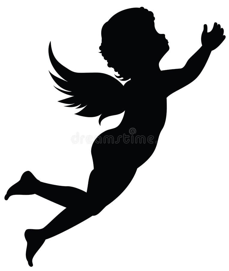 Silhouet van engel royalty-vrije illustratie